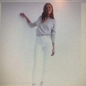 "10"" high rise skinny crop jeans"